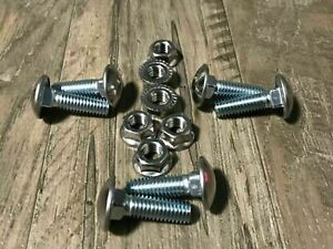 """6 bumper bolts flange nuts stainless capped bolt 3/8-16 x 1-1/4"""" round d"""