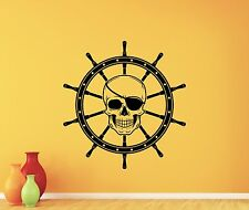 Pirate Skull Wall Decal Ship Wheel Nursery Decor Nautical Vinyl Sticker 317xxx