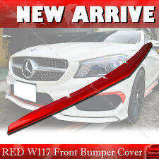 PAINTED RED FOR MERCEDES BENZ C117 W117 FRONT BUMPER LIP SPOILER COVER CLA250 §
