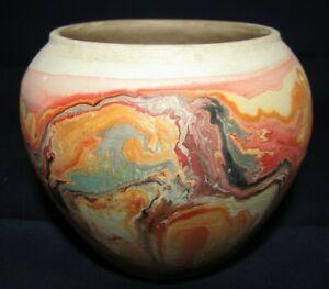 Vintage Nemadji Pottery Small Bowl or Vase