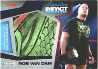TNA Rob Van Dam 2011 Signature Impact Worn Relic BLUE