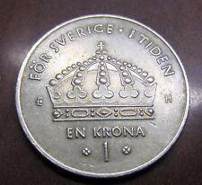 SWEDEN CARL GUSTAF 1 KRONA 2003 / NICE COIN