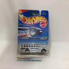 School Bus #328 * Chrome w/ 5sp Rims * 1995 Hot Wheels * WK15