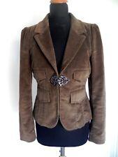 Max & CO Trends Max Mara Brown Cord smart Jacket Blazer UK 12