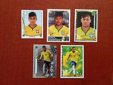 Lot 5 Diff NEYMAR Panini Soccer Stickers BRAZIL PSG Copa America World Cup