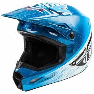 Youth MX Motocross Helmet > Fly Kinetic K120 Lightweight - Blue / White / Red