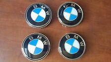 Set 4 Tappi Coprimozzo Borchie BMW 68mm Cabrio Coupè Berlina E36 E46 E90 E91 E92