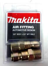 """Makita 3/8"""" x 3/8"""" M-Auto Air Fitting NPT MALE YY311017-A 2pk *MADE IN THE USA*"""