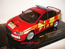 IXO MOC147 MITSUBISHI LANCER HUMBERSIDE & WEST MIDLANDS FIRE DEPARTMENT au 1/43°