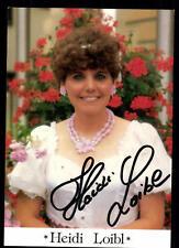 Heidi Loibl Autogrammkarte Original Signiert ## BC 48571