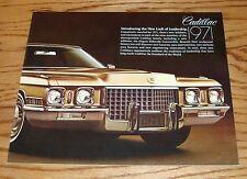 Original 1971 Cadillac Full Line Brown Sales Brochure 71 Eldorado Fleetwood