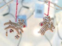 Gisela Graham Christmas Resin Gingerbread Reindeer Tree Decorations 8cm