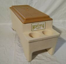 Igloo Kool Rest Car Auto Console Cooler Ice Chest Can Cup Holders Butterscotch
