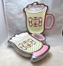 8 Hot Chocolate mug themed snack trays, plates. Plastic