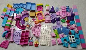 Lego Duplo Lot Castle Pieces,  Minnie Mouse Airplane,  Purple,  Pink  Blue...
