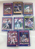 1990 Starline Long John Silver's 40 Card Baseball Complete Set Series 1 - 8