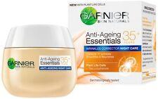 GARNIER Skin Naturals Anti-Ageing Essentials NIGHT Cream 35+ Wrinkles Corrector