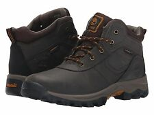 Timberland Mt Madsen Leather  Brown Hiking Boots Youth Size 2 M