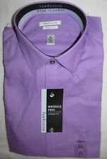 New Van Heusen Classic Fit Purple Pin Stripe Dress Shirt Mens Size 16 34 35