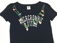 Abercrombie & Fitch Womens Sz Small S Shirt Top Christmas Lights Holiday Shirt