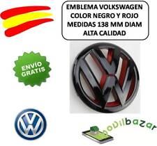 EMBLEMA LOGO VW ROJO NEGRO PARRILLA  VOLKSWAGEN GOLF GTI 6 138MM