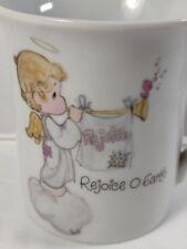 """Precious Moments """"Rejoice O Earth """" Coffee Cup 1980 Enesco w/ label"""