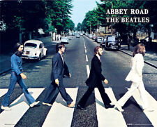 (LAMINATED) THE BEATLES ABBEY ROAD CROSSING POSTER 40x50cm NEW LICENSED ART