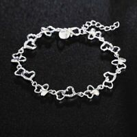 elegante schmuck mode frauen liebe herz versilbert armband - kette armband