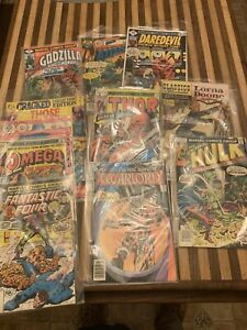 Vintage Comic Books Incredible Hulk, Thor, Daredevil, Fantastic Four, Omega, Etc