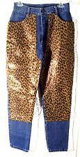 Jokko Jeans Denim Animal Leopard Print Accents Blue Jeans Size 11