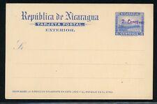 Nicaragua Postal Stationery PC H&G #54 2c/6c Unused Momotombo ABNCo $$$