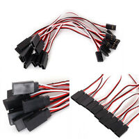 10* 150mm 3Pin Servo Extension Lead Wire Cable Cord For Futaba JR Male To Pro AU