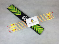 """ASD 28"""" & 30"""" Wooden Archery Arrows For Light Compound & Recurve Traditional Bow"""