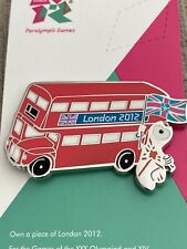 London 2012 Olympic Mascot Wenlock With London Bus Pin Badge
