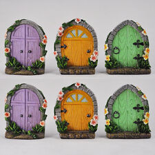 6 PACK of Fairy Doors Miniature Tree Garden Home Decor Mini Quirky Wood 39174