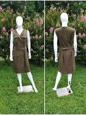 Chicos Olive Faux Suede Vest /Dress Size 3 Or 16/18 US New