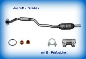 Katalysator mit E - Prüfzeichen für Opel Astra G 1.6 Motor: X 16 SZR 55kW + Kit
