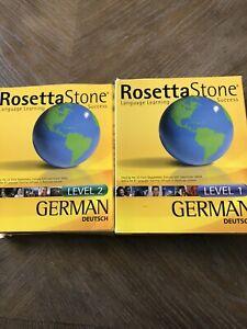 Rosetta Stone German (Deutsch) Level 1 & 2 CDs