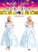 CINDERELLA Dress Up Deluxe Princess Adult Ball Gown Princess Fairytale Costume