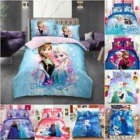 Disney Frozen Twin Bed Duvet/Doona/Quilt Cover Set or Sheet Set & Pillowcase