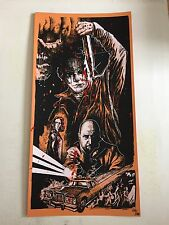 1981 HALLOWEEN II EXTREMELY RARE BLOOD SPLATTERED VARIANT ED SCREEN PRINT POSTER