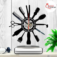 Barber Shop Clock Hairdresser Salon Vinyl Record Wall Art Home Decor Best Gifts