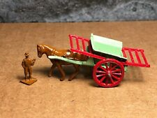 Vintage Benbros | #1 | Horse Drawn Hay Cart with Man and Raves | Diecast | Good