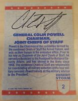 1991 Topps #2 General Colin Powell Autographed Desert Storm Card Auto Signed -