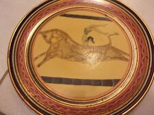 Minoan Bull leaping Hand painted original Rare copper plate