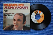 CHARLES AZNAVOUR / EP BARCLAY 71075 / VERSO 2 / BIEM 1966 ( F )