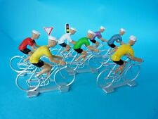 Lot de 7 figurines de cyclistes en plastique du tour de France - Lot 2