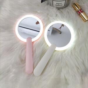 Handbag Mirror LED USB Charge Makeup Folding Hand Mirrorwith Light