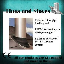 Twin Wall Flue Pipe EPDM Flashing for 0- 45 degree roofs 110-200mm external (02)