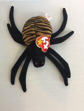 TY Beanie Baby retired Halloween Spinner spider babies 1996 mint PVC pellets
